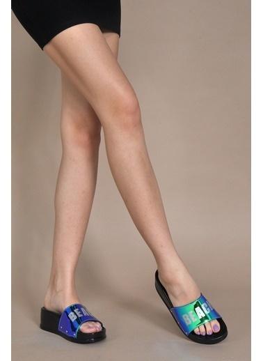 Vizon Ayakkabı Terlik Mavi